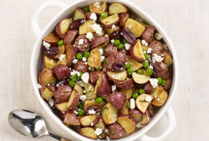 New Potatoes with Spring Peas Recipe Photo - Diabetic Gourmet Magazine Recipes