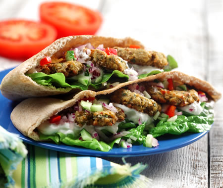 Oven-Roasted Falafel Recipe Photo - Diabetic Gourmet Magazine Recipes