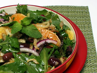 Pan Seared Fennel and Orange Salad