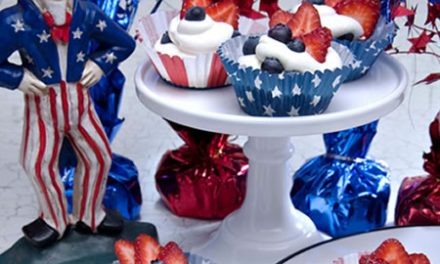 Patriotic Strawberry Clouds