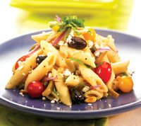 Penne Mediterranean Delight Salad Recipe Photo - Diabetic Gourmet Magazine Recipes