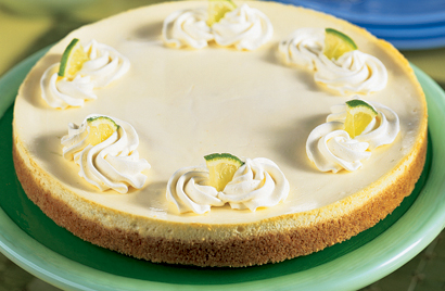 Refreshing Lime Cheesecake Recipe Photo - Diabetic Gourmet Magazine Recipes