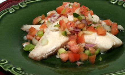Roasted Fish with Christmas Salsa
