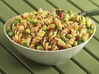 Sesame-Soy Edamame & Pasta Salad Recipe Photo - Diabetic Gourmet Magazine Recipes