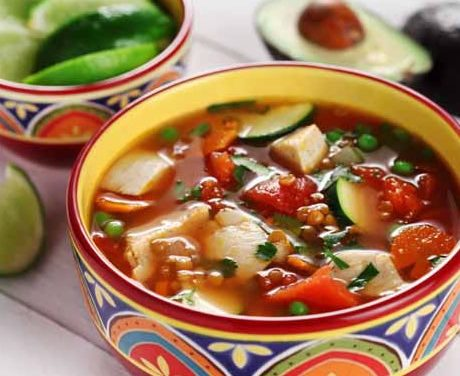 Sopa De Pollo a la Mexicana – Mexican Chicken Soup