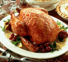 Southern Roast Turkey with Bourbon Peach Glaze Recipe Photo - Diabetic Gourmet Magazine Recipes