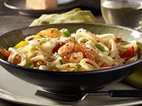 Spicy Linguine with Shrimp Recipe Photo - Diabetic Gourmet Magazine Recipes