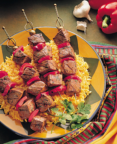 Spicy Portuguese Beef Steak Kabobs Recipe Photo - Diabetic Gourmet Magazine Recipes