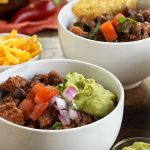 Steak, Roasted Tomato and Bean Chili