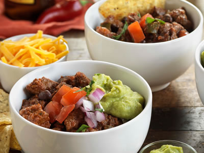 Steak, Roasted Tomato and Bean Chili Recipe Photo - Diabetic Gourmet Magazine Recipes