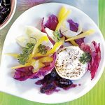 Summer Salad with Goat Cheese and Wild Blueberry Sauce
