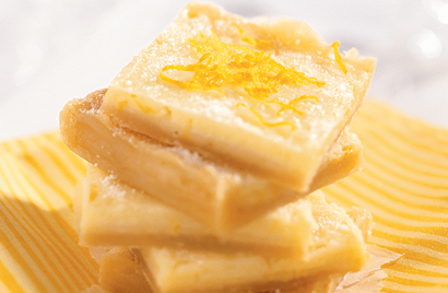 Tangy Lemon Squares Recipe Photo - Diabetic Gourmet Magazine Recipes