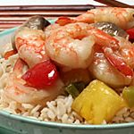Teriyaki Shrimp Stir-fry with Pineapple and Peppers
