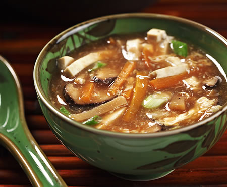 Vegetarian Hot and Sour Soup Recipe Photo - Diabetic Gourmet Magazine Recipes