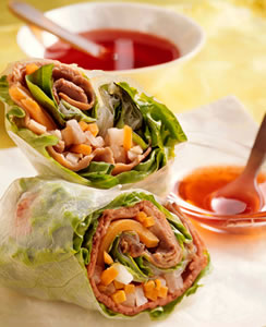 Vietnamese Beef & Vegetable Spring Rolls Recipe Photo - Diabetic Gourmet Magazine Recipes