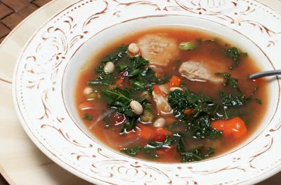White Bean, Pork, and Greens Soup