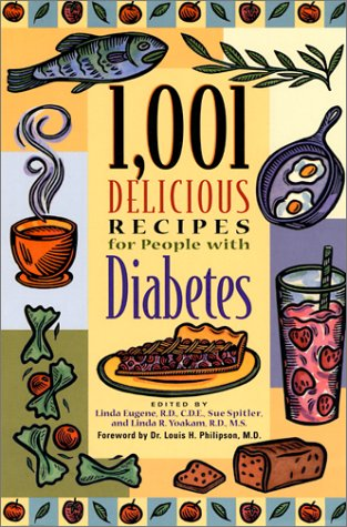 1,001 Delicious Recipes for People with Diabetes Book Cover Image