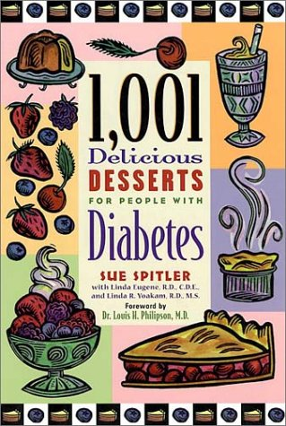 1,001 Delicious Desserts For People with Diabetes Book Cover Image