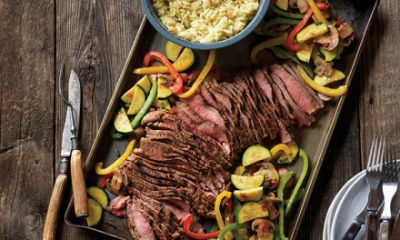 Grilled Southwestern Steak and Colorful Skillet Vegetables