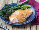 Salmon with Peanut Butter Sauce