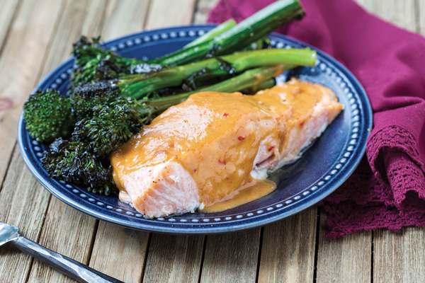 Salmon with Peanut Butter Sauce Recipe Photo - Diabetic Gourmet Magazine Recipes