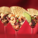 Cranberry Shrimp Ceviche Appetizer