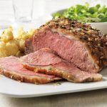 Herb-Rubbed Beef Roast with Roasted Cauliflower
