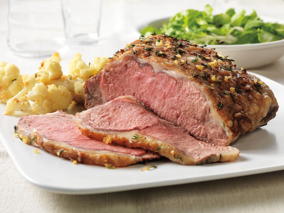 Herb-Rubbed Beef Roast with Roasted Cauliflower Recipe Photo - Diabetic Gourmet Magazine Recipes