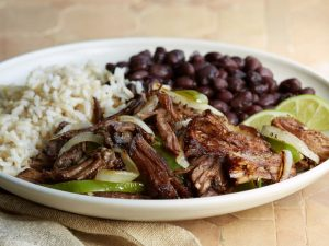 Cuban Crispy Shredded Beef Dinner