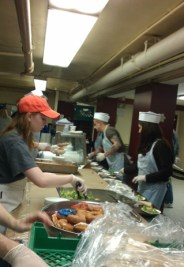 Photo of volunteers on serving line