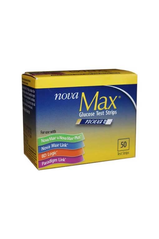 NOVA MAX GLUCOSE TEST STRIPS 50ct. AUTOSHIP