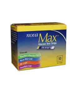 NOVA MAX GLUCOSE TEST STRIPS 50ct.