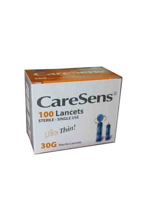 caresense lancets 100 ct 30 g
