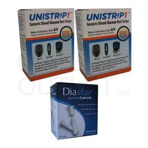 Unistrip1-test-strips-diastar-ii-lancets