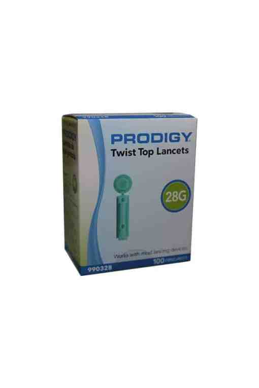 prodigy-twist-top-lancets-28g-100-count