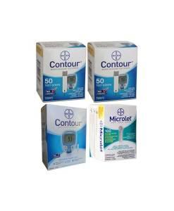 CONTOUR + MICROLET LANCETS + CONTOUR METER