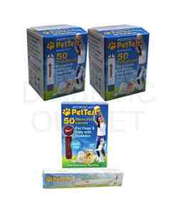ADVOCATE PETTEST STRIPS + LANCETS+ LANCING DEVICE