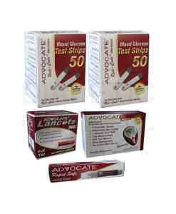 Advocate-redi-code-test-strips-+-speaking-meter-+-pull-top-lancets-+-red-dot-lancing-device