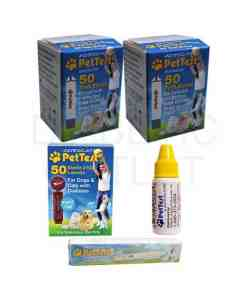 PETTEST STRIPS + LANCETS+ LANCING DEVICE + CONTROL SOLUTION