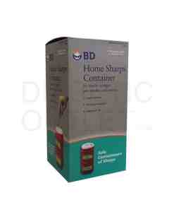 BD 1-2/5 QT HOME SHARPS CONTAINER FOR SYRINGES, PEN NEEDLES & LANCETS