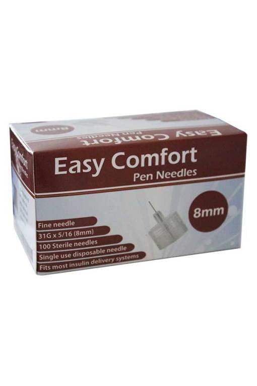 Easy-Comfort-Insulin-Pen-Needles-100-count-31g-5.16-in-8-mm