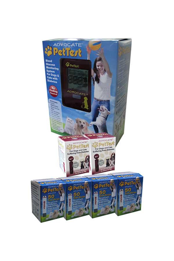 Advocate Pettest Meter Pet Test Strips 4 Boxes Lacets 2 Boxes
