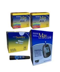 Nova-max-test-strips-nova-max-link-meter-nova-sureflex-lancets-lancing-device