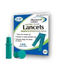 PHARMACIST CHOICE LANCETS 30G 100ct. PULL-TOP