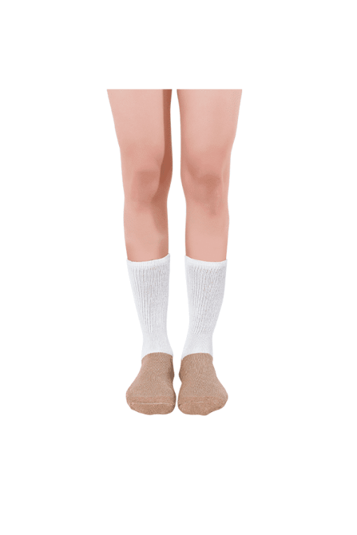 diabetic activity socks glucology full lenfth white