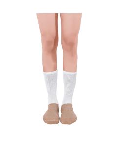 diabetic activity socks glucology full lenfth white