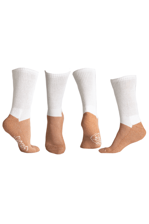 glucology diabetes activity socks white full crew