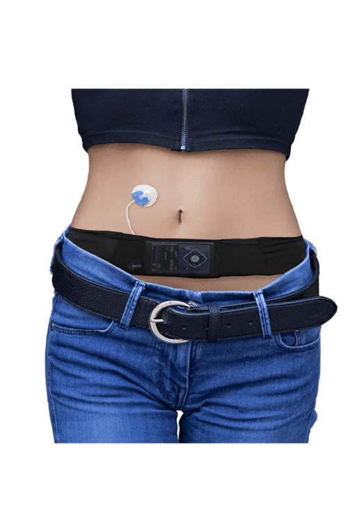 Glucology insulin pump belt black female