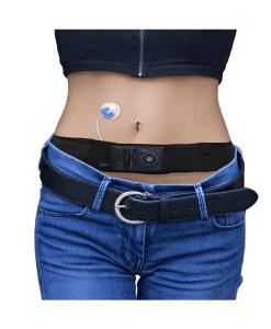 Glucology insulin pump belt black female