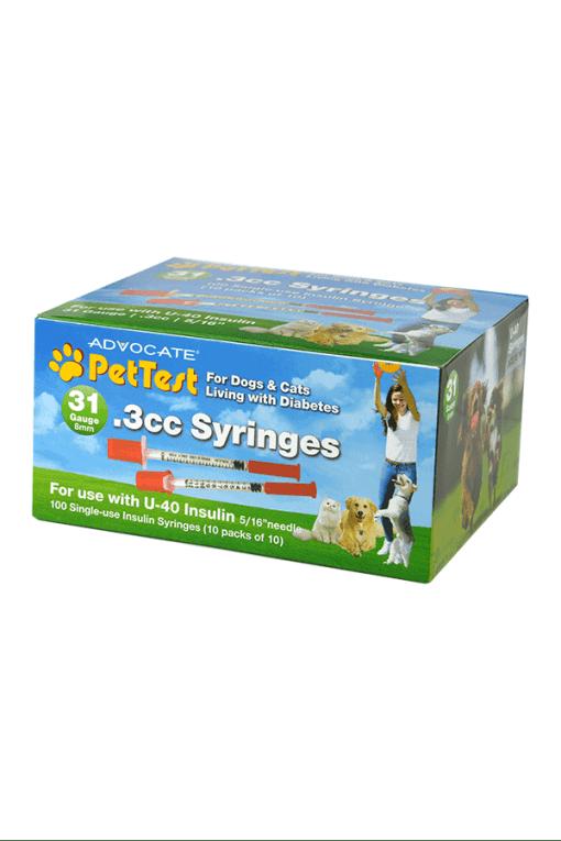 advocate pettest syringes 31g 0.3cc 5_16_ u-40 for pets
